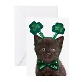 Shamrock Kitten Cards (Pk of 10)