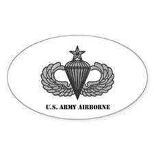 Senior Airborne Wings Oval Decal