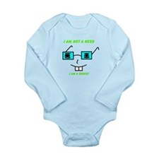 Not A Nerd Long Sleeve Infant Bodysuit