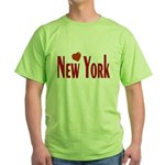 Love New York Green T-Shirt