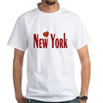 Love New York White T-Shirt