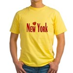 Love New York Yellow T-Shirt
