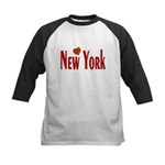 Love New York Kids Baseball Jersey