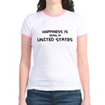Happiness is United States Jr. Ringer T-Shirt