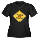 Falling In Love Rocks Women's Plus Size V-Neck Dar
