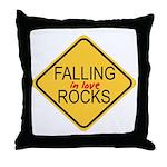 Falling In Love Rocks Throw Pillow