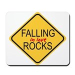 Falling In Love Rocks Mousepad
