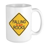 Falling In Love Rocks Large Mug