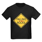Falling In Love Rocks Kids Dark T-Shirt