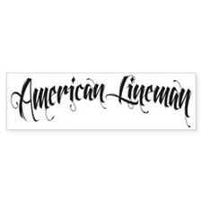 Lineman Bumper Sticker
