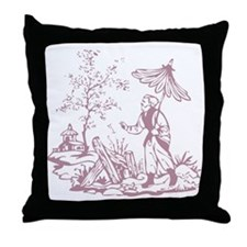 Rose Peasant Throw Pillow