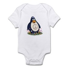 Peace Penguin Infant Bodysuit