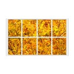 Golden Leaves Window 38.5 x 24.5 Wall Peel