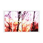Raindrop Sunset Window 38.5 x 24.5 Wall Peel