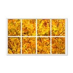 Golden Leaves Window 22x14 Wall Peel