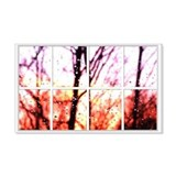 Raindrop Sunset Window 22x14 Wall Peel