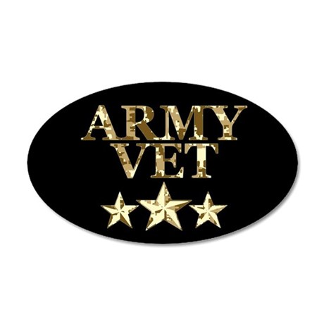 Army Vet 3 Star Camo 38.5 x 24.5 Oval Wall Peel