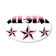 All-Star 38.5 x 24.5 Oval Wall Peel
