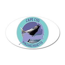 Cape Cod Whale 38.5 x 24.5 Oval Wall Peel