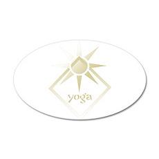 Yoga 38.5 x 24.5 Oval Wall Peel