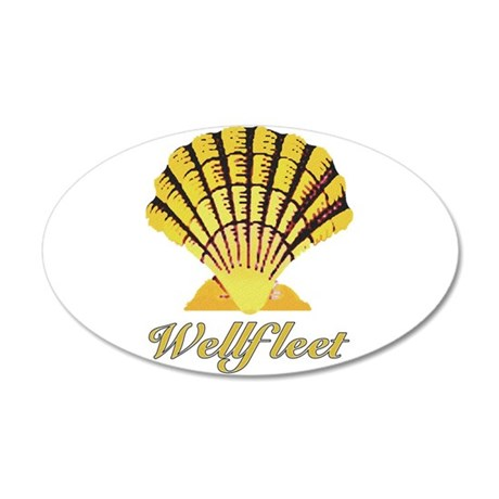 Wellfleet Shell 38.5 x 24.5 Oval Wall Peel