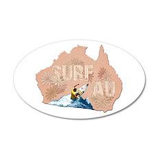Surf Australia 22x14 Oval Wall Peel