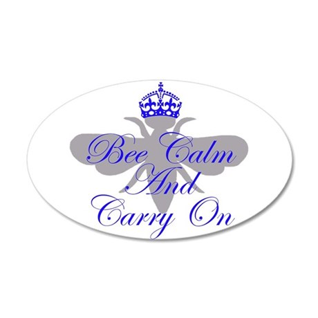 Be Calm and Carry On 22x14 Oval Wall Peel