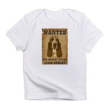 """Wanted"" Basset Hound Infant T-Shirt"