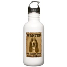 """Wanted"" Basset Hound Water Bottle"