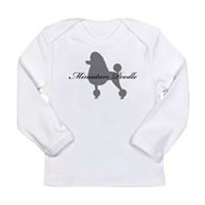 Miniature Poodle Long Sleeve Infant T-Shirt