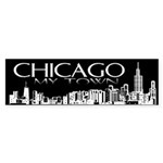 Chicago My Town Bumper Sticker