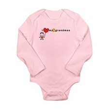 L/S Infant Bodysuit (Boy) | i love my 2 grandmas