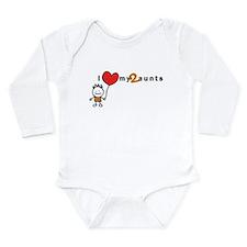 L/S Infant Bodysuit (Boy)   i love my 2 aunts