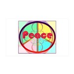 Abstract Peace Sign 35x21 Wall Decal