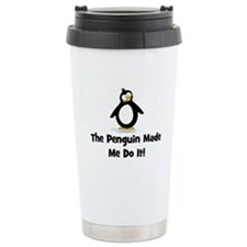 Penguins Made Me Do It Ceramic Travel Mug