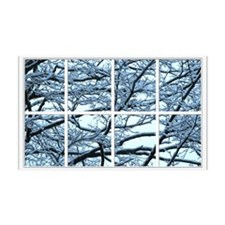 Snowy Branches Window 38.5 x 24.5 Wall Peel