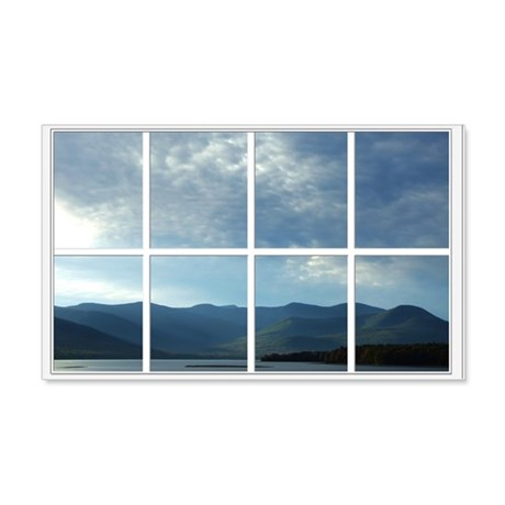Mountain Lake Window 22x14 Wall Peel