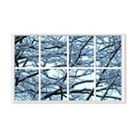 Snowy Branches Window 22x14 Wall Peel