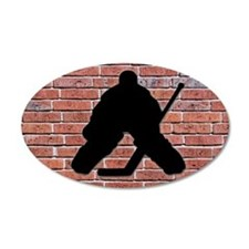 Hockey Goalie 22x14 Oval Wall Peel