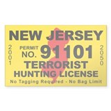 New Jersey Terrorist Hunting Decal