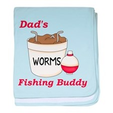 Dad's Fishing Buddy baby blanket