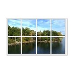 Lake View Window 22x14 Wall Peel
