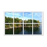 Lake View Window 22x14 Wall Peel