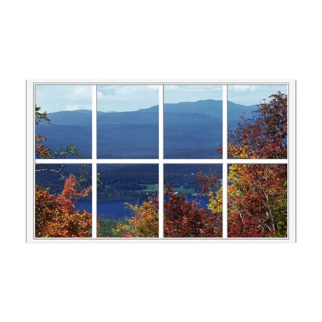 Mountain View Window 38.5 x 24.5 Wall Peel