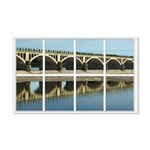 Bridge Reflection 22x14 Wall Peel