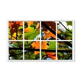 Fall Leaves Window 22x14 Wall Peel