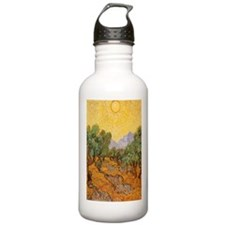 Van Gogh Olive Trees Yellow Sky And Sun Water Bottle