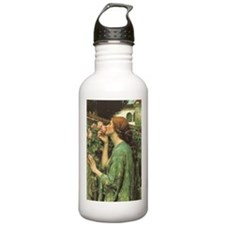 My Sweet Rose by JW Waterhouse Water Bottle
