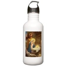 Vintage Christmas Nativity Water Bottle