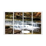Small Waterfall Window 38.5 x 24.5 Wall Peel